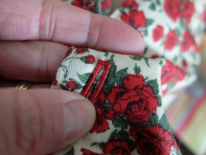 I thought red thread for the buttonholes looked badass.