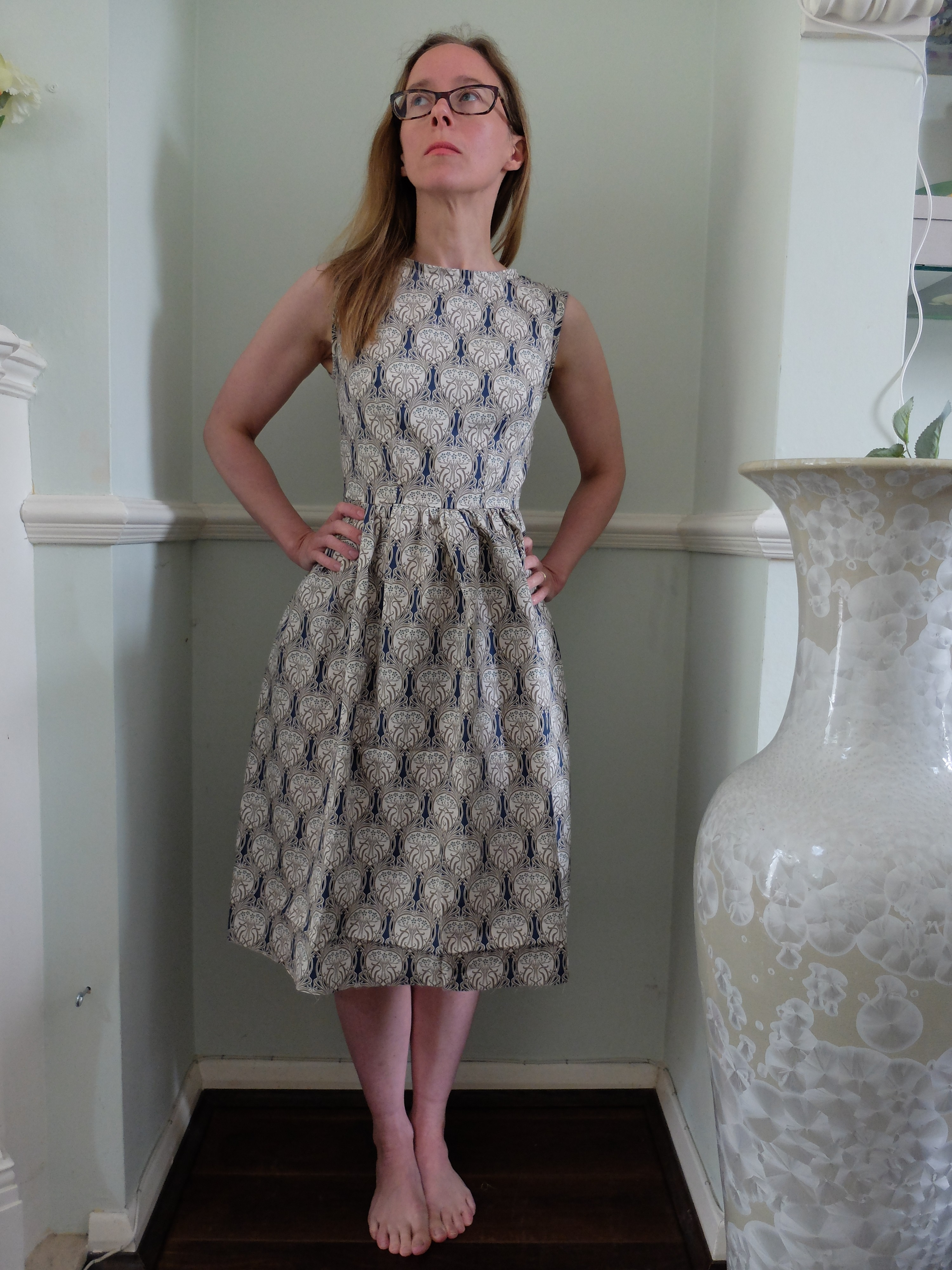 Emery dress sew along lining
