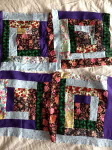 A mix of handprinted Indian cotton, Liberty lawn, some rubbish I got at Ikea and wool crepe.