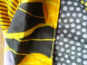 Yellow topstitching, I let him choose the colour like a proper couturier would.